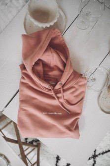 Hoodie HERE COMES THE SUN in Apricot
