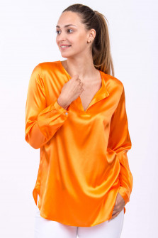 Seidenbluse MASTRA in Orange