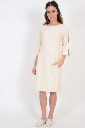 Kleid mit Cutout in Cream