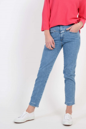 Jeans Pedal Pusher in Mittelblau
