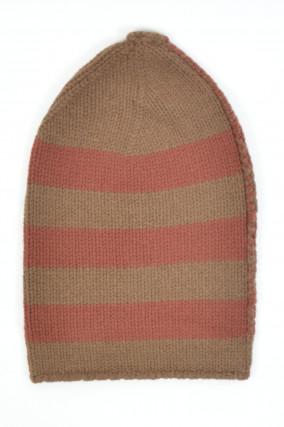 Wollmütze in Rot/Braun