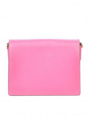 Tasche mit besticktem Umhängeriemen in Pink