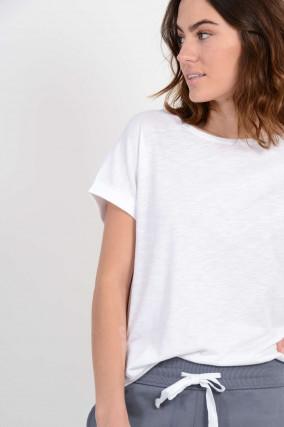 T-Shirt in Weiß meliert