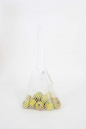 Netztasche aus Baumwolle in Weiß