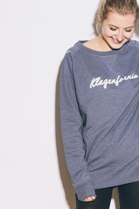 Sweater KLAGENFORNIA aus Baumwolle in Blau/Weiß