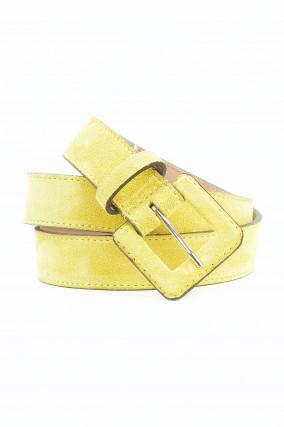 Ledergürtel in Gelb