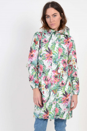 Mantel Floral gemustert in Grün