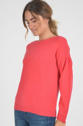 Pullover aus Cashmere in Koralle