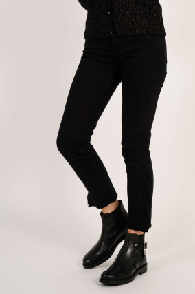 Jeans MID RISE ROXANNE CROP in Schwarz