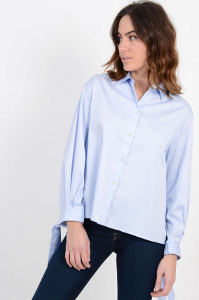 Oversized - Bluse in Hellblau