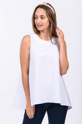 Ausgestelltes Blusenshirt in Weiß