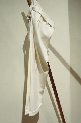 Culotte mit Gürtel in Offwhite