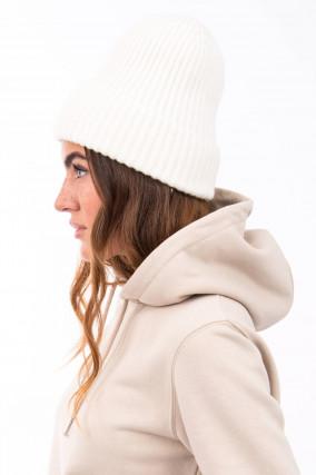 Mütze aus Cariaggi Cashmere in Weiß