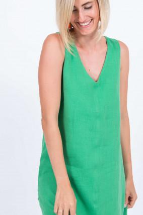 Leinenkleid in Grün