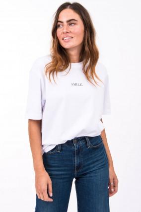 T-Shirt SMILE in Weiß