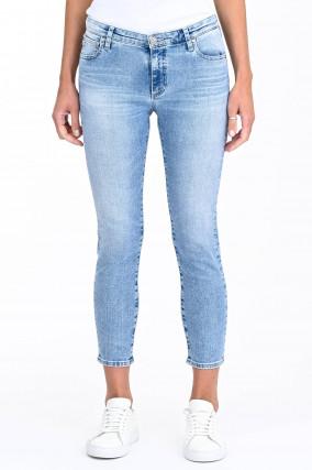 Jeans THE PRIMA CROP in Hellblau