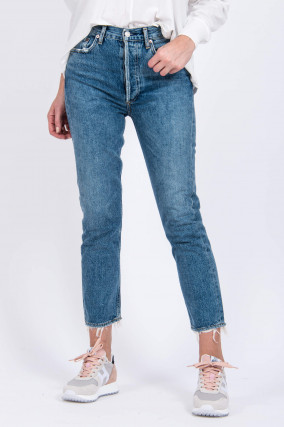 Mom Jeans RILEY in Mittelblau