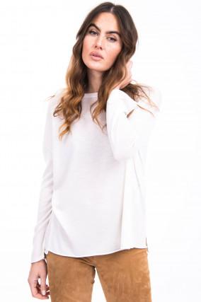Pullover aus Schurwolle in Weiß