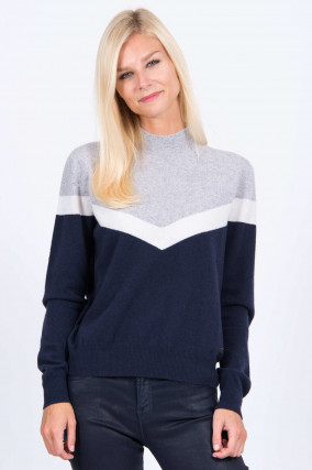 Pullover FIRIK in Grau/Blau