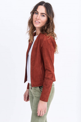 Velourslederjacke STEVIE in Rost