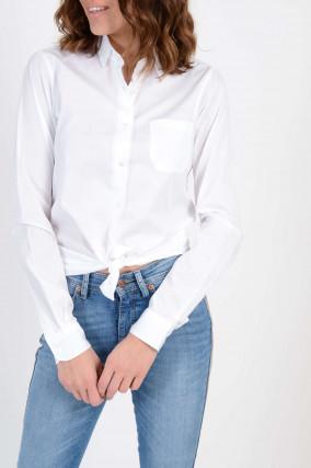 Bluse aus Baumwolle in Weiß