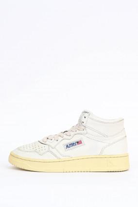 Vintage High-Top-Sneaker in Weiß