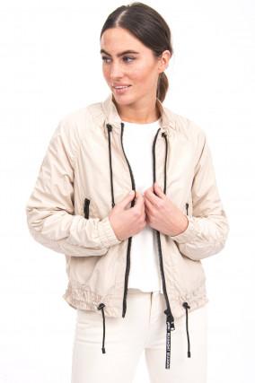 Sportive Jacke in Beige