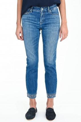 Jeans PARIS mit Stickerei in Mittelblau