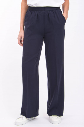 Weite High-Waist Hose in Midnight