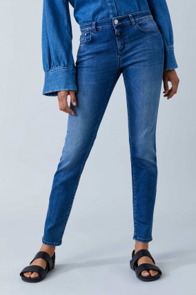 Jeans BAKER LONG in Mittelblau