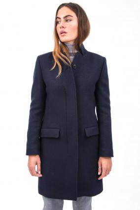 Klassischer Mantel in Navy