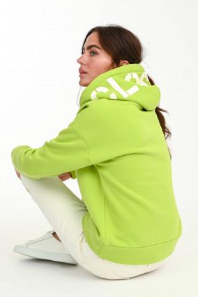 Hoodie aus Bio-Baumwolle in Neongrün