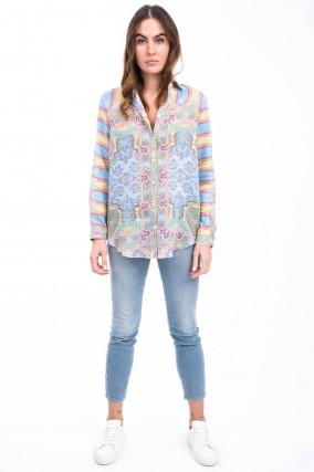 Klassische Bluse in Multicolor