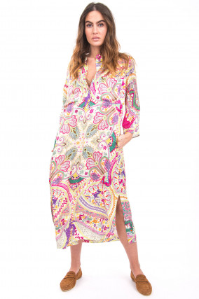Paisley Maxi-Kleid in Multicolor