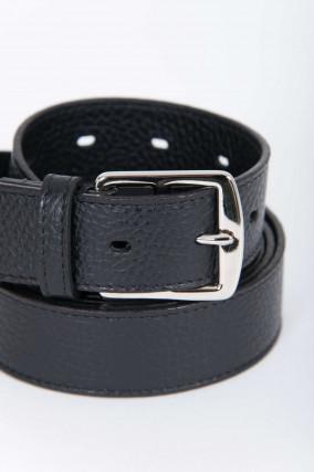 Ledergürtel zweifach gewickelt in Schwarz