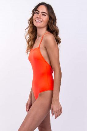 Badeanzug in Neon-Orange