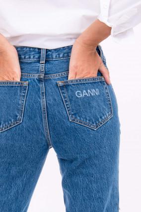 Vintage-Denim Jeans in Mittelblau