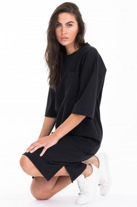 Sweater-Kleid in Schwarz
