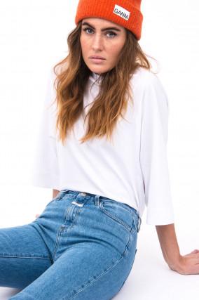 Weites Shirt in Weiß
