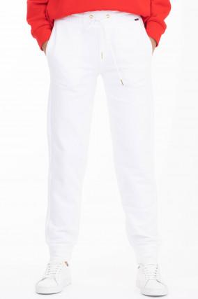 Sweatpants FANIA mit Kordelzug in Weiß