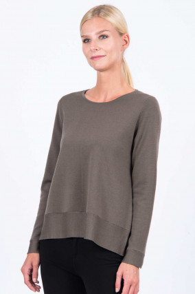 Pullover in Oliv
