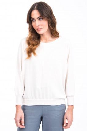 Pullover aus Kaschmir-Mix in Weiß