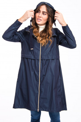Leichter Parka in Navy