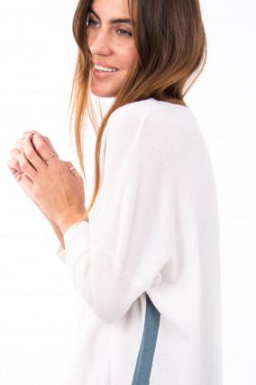 Pullover aus Woll-Kaschmir-Mix in Weiß