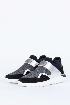 Slip-on-Sneaker INTERACTIVE in Schwarz/Silber