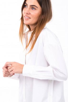 Oversized Bluse FLORIANE POPELIN in Weiß