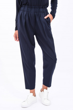 Paperbag-Hose in Navy