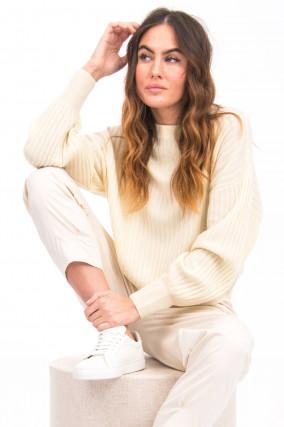 Pullover LANE aus Kaschmir-Mix in Pastellgelb