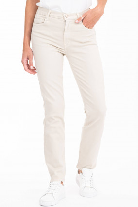 Jeans TEAGAN HIGH RISE STRAIGHT in Beige