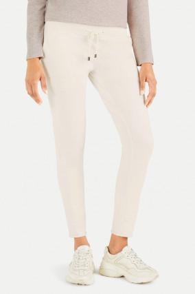 Slim Fit Sweatpants in Creme